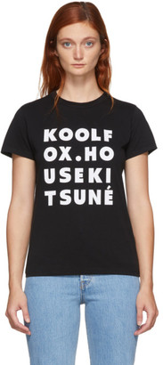 MAISON KITSUNÉ Black Kool Fox T-Shirt