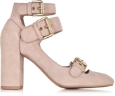 See by Chloe Powder Pink Suede Pump