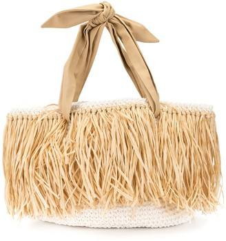 0711 Woven Straw Beach Bag