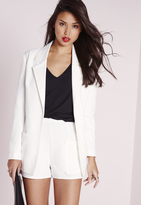 Missguided Boyfriend Suit Blazer White