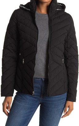 Nautica Short Hooded Puffer Jacket