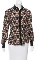 Prabal Gurung Printed Silk Blouse