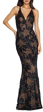 Dress the Population Sharon Floral-Sequin Mermaid Gown