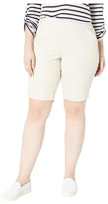 Jag Jeans Plus Size Gracie Pull-On Bermuda Shorts (Black) Women's Shorts