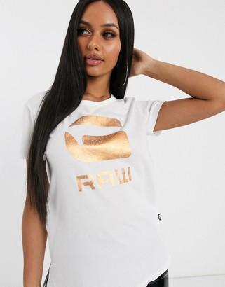 G Star G-Star foil logo t-shirt-White