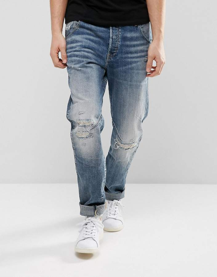 G Star G-Star Arc 3D Tapered Jeans Medium Aged Restored 156 Wash