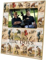 The Well Appointed House Antique Golfers Decoupage Frame-Can Be Personalized