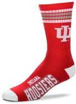 For Bare Feet Men's Indiana Hoosiers Deuce Striped Crew Socks