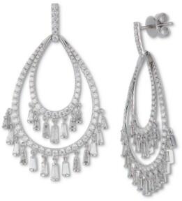Macy's Diamond Chandelier Drop Earrings (3-1/2 ct. t.w.) in 14k White Gold