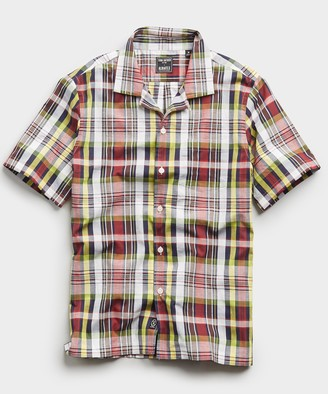 Todd Snyder Madras Camp Collar Short Sleeve Shirt