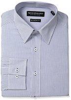 Nick Graham Men's Stripe Cotton Dress Shirt