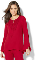 New York & Co. Crochet-Trim Blouse