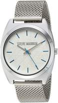 Steve Madden Women's Quartz and Alloy Casual Watch, Color:Silver-Toned (Model: SMW013BL)