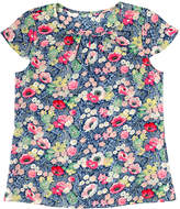 Cath Kidston Winfield Flowers Pleat Detail Silk Top