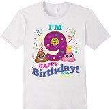 Poop Emoji Happy 9th Birthday Shirt Kids, Girls, Gift