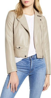 Cupcakes And Cashmere Ines Faux Leather Jacket