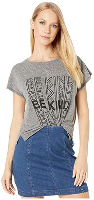 good hYOUman Claire Be Kind Tee (Heather) Women's Clothing