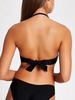 River Island Embellished Balconette Bikini Top - Black