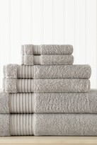 Amrapur 6-Piece Turkish Cotton Towel Set - Grey