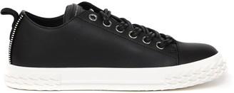 Giuseppe Zanotti Zip Detailed Black Leather Sneakers