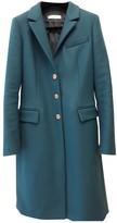 Gianni Versace Green Wool Coat for Women