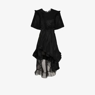 Preen by Thornton Bregazzi Asymmetric Taffeta Mini Dress