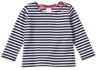 Joe Fresh Stripe Long Sleeve Top (Baby Girls)