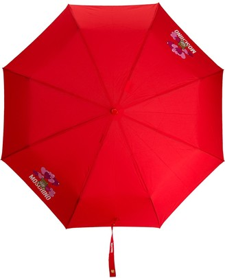Moschino Teddy-motif logo-print umbrella