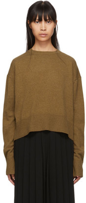 Studio Nicholson Brown Cashmere Crewneck Sweater