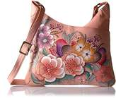 Anuschka Anna Hand Painted Leather Multicompartment Tote
