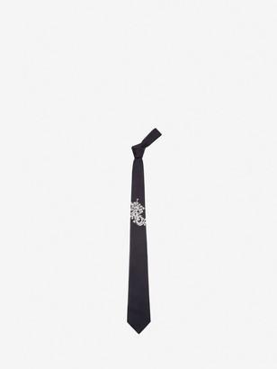 Alexander McQueen Ivy Monogram Tie