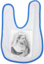 Fotomax baby bib with Portrait of Queen Victoria. She was the monarch of the United Kingdom of Great Britain and Ireland from 20 June 1837 until her death. From 1 May 1876 she used the additional title o