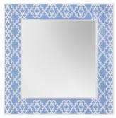 Decorative Wall Mirror Breeze Point Light Blue White