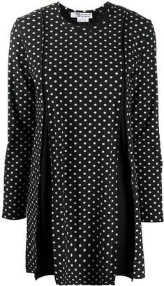 Comme des Garçons Comme des Garçons Pleated Polka Dot Mini Dress