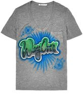 Alexander Wang Women's Airbrushed Classic Tee With Pocket