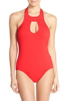 Seafolly Keyhole Halter One-Piece Swimsuit