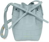 Mansur Gavriel Croc Embossed Baby Bucket Bag - Light Blue