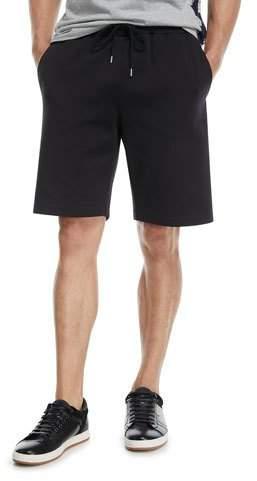 Moncler Nylon Sweat Shorts with Logo Taping