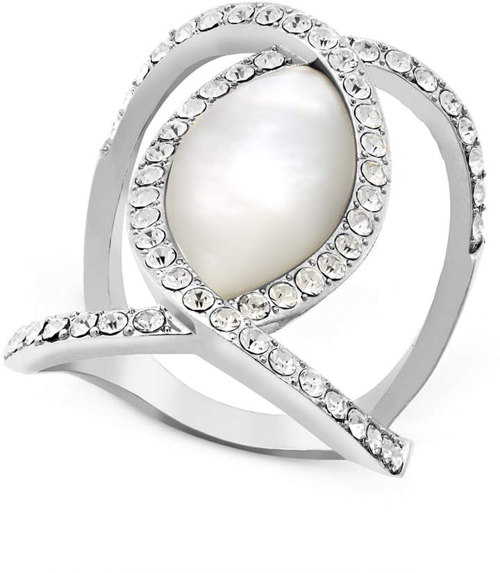 INC International Concepts I.N.C. Pavé Crystal Statement Ring, Created for Macy's
