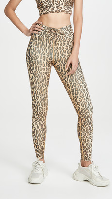 YEAR OF OURS Leopard Print Football Leggings