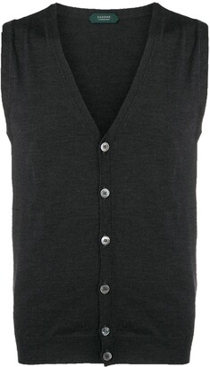 Zanone V-Neck Knitted Vest