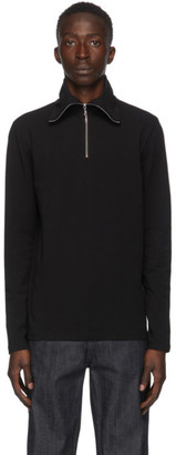 Jil Sander Black Half-Zip Sweater