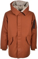 Converse Warm Fishtail Parka Jacket Brown