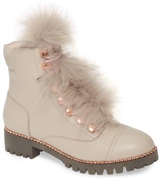 Cecelia New York Trekker Boot with Genuine Fox Fur Trim