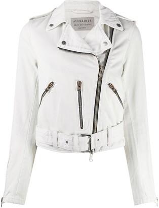 AllSaints Zipped Biker Jacket