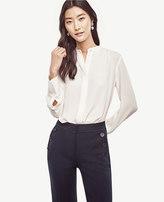 Ann Taylor Petite Shirred Blouse