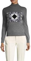 Vivienne Tam American Patchwork Turtleneck Sweater