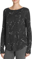 Generation Love Beverly Side-Laced Marble Linen Top