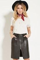 Forever 21 FOREVER 21+ Faux Leather Knee-Length Skirt
