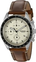 Fossil Men's CH3023 Sport 54 Chronograph Dark Brown Leather Watch